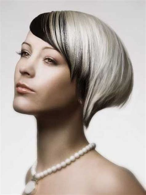 black and platinum hairstyles short hairstyles for women with straight and fine hair
