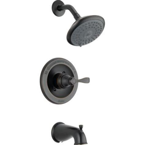Delta 3 Handle Tub Shower Faucet by Delta Porter Single Handle 3 Spray Tub And Shower Faucet