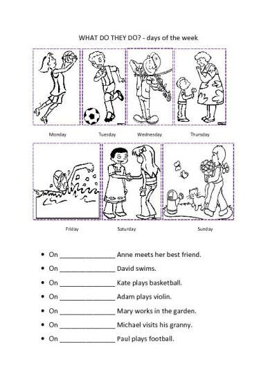 Activity Day On Activity Days days of the week activities kiddo shelter