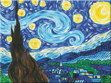 paint nite number starry paint by number museum series 063601