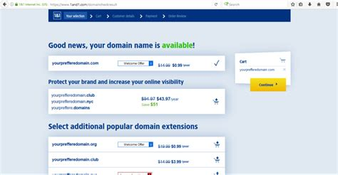 Email Domain Search How To Buy A Domain With A Free Custom Email And Ssl Certificate For 0 99