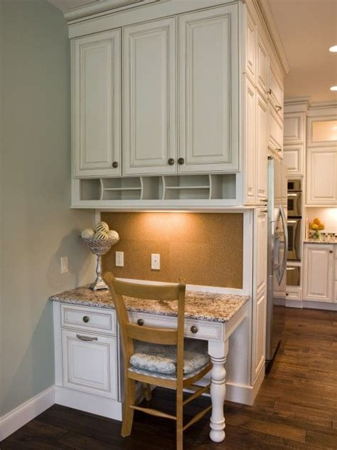 Desk In Kitchen Design Ideas Small Corner Kitchen Desk For The Home Pinterest