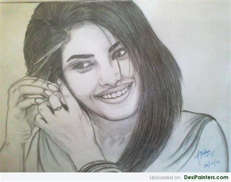 bollywood actress priyanka chopra sketch desipainters com