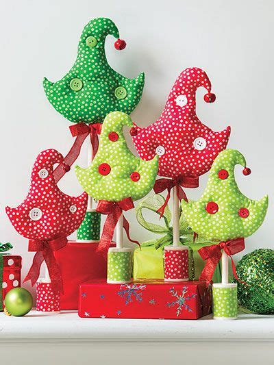 fabric tree pattern from christmas all through the house