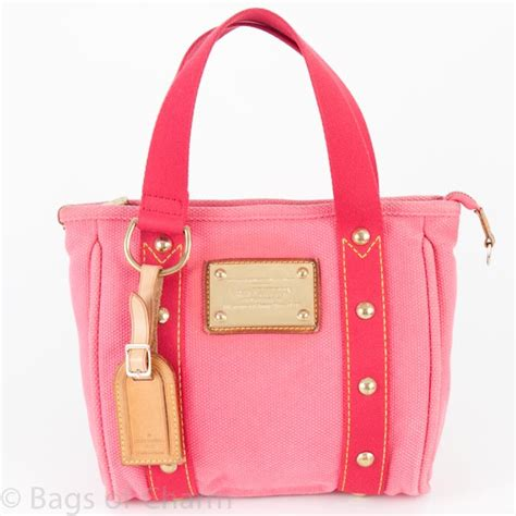 louis vuitton antigua cabas tote pm bag pink bags of