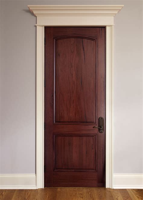 Interior And Exterior Doors Interior Door Custom Single Solid Wood With Rich Mahogany Finish Classic Model Gdi M 701p