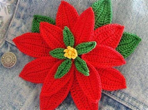 antel de noche buenas a crochet patron para hacer una flor de noche buena a crochet14