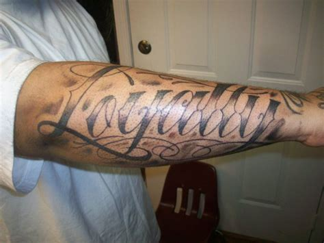 loyalty tattoo worst tattoos by worst script loyalty bull