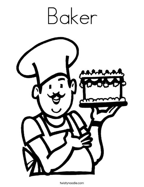 baker coloring pages preschool baker coloring page twisty noodle