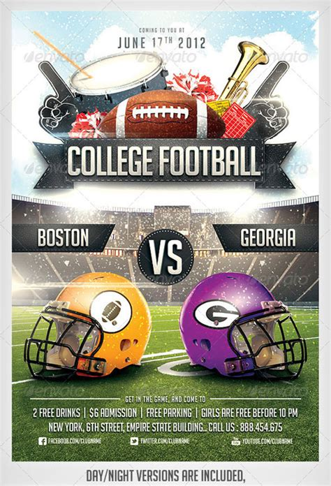 free football flyer templates free other psd file page 85 newdesignfile