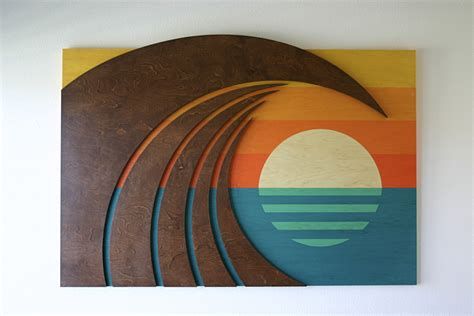 Surfboard Home Decor by Wood Wall Sculptures Hokua Surf Artwork Laguna Beach