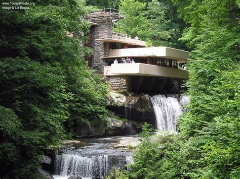 falling waters house architecture frank lloyd wright s famous quot falling water house quot over waterfall in