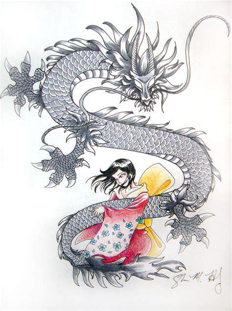 dragon and the geisha by usagi rukia on deviantart