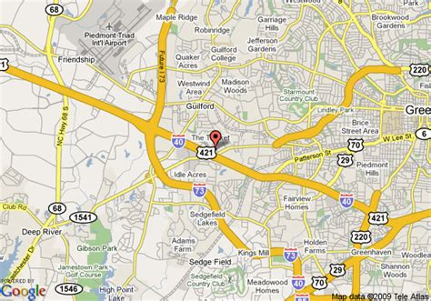 Directions To The Closest Olive Garden by Map Of Garden Inn Greensboro Greensboro