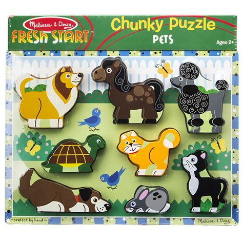 Chunky Puzzle Numbers Puzzle Chunky Angka doug chunky pets puzzle 8pce s of kensington