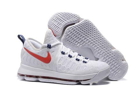 retro basketball shoes for sale nike kd 9 usa white race blue basketball