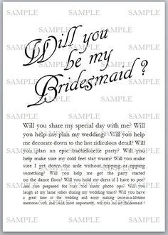 1000 Images About Will You Be My Bridesmaid Ideas On Pinterest Be My Bridesmaid Maid Of Will You Be My Bridesmaid Letter Template
