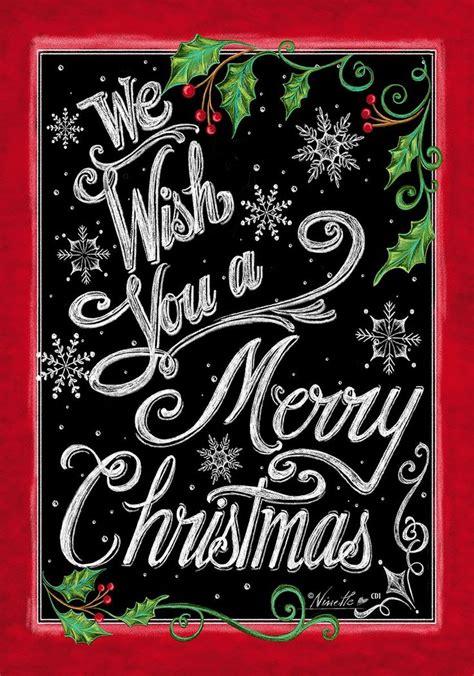 merry christmas  images christmas garden flag chalkboard merry christmas