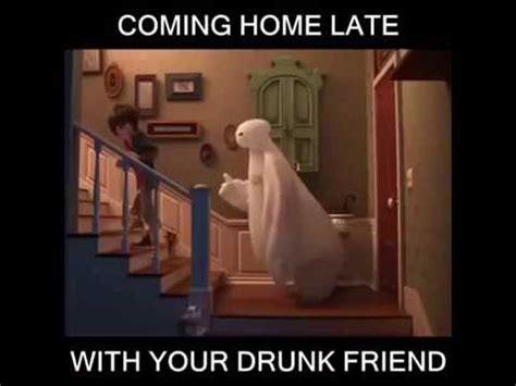 coming home late with your friend