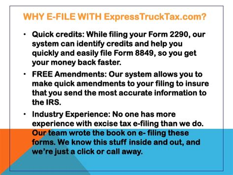 Credit On Form 2290 E File Form 2290 With Expresstrucktax