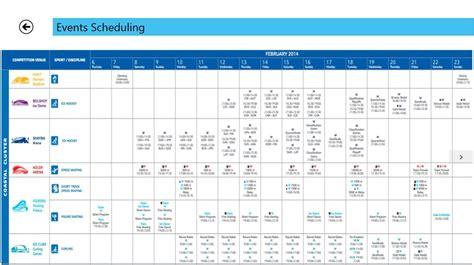 winter olympics schedule 2016 windows 8 winter olympics 2014 app winter olympics 2014