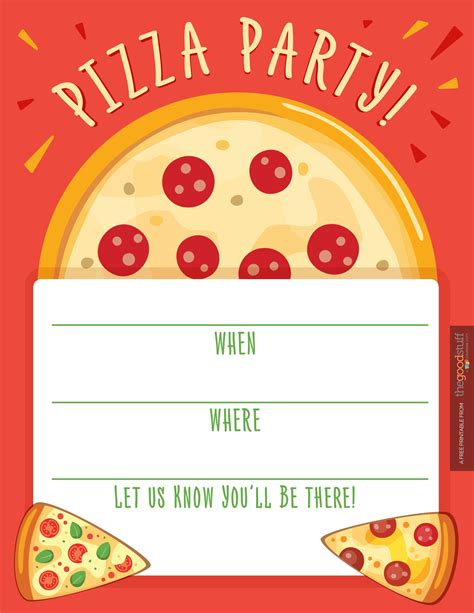 pizza template for a card pizza invitations invitations templates