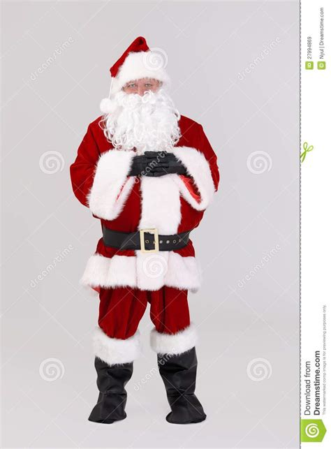 full size portrait of santa claus royalty free stock