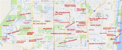map of boca raton florida the judgmental map of boca raton florida