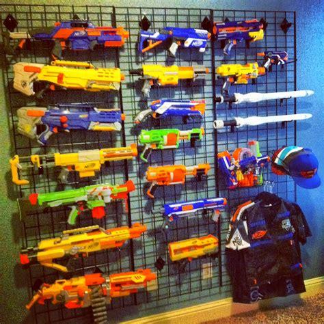 nerf gun wall boys preen bedroom quite