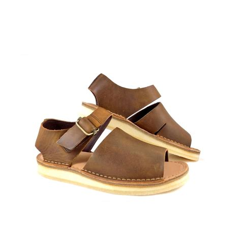 trek sandals clarks originals trek sandals in brown leather