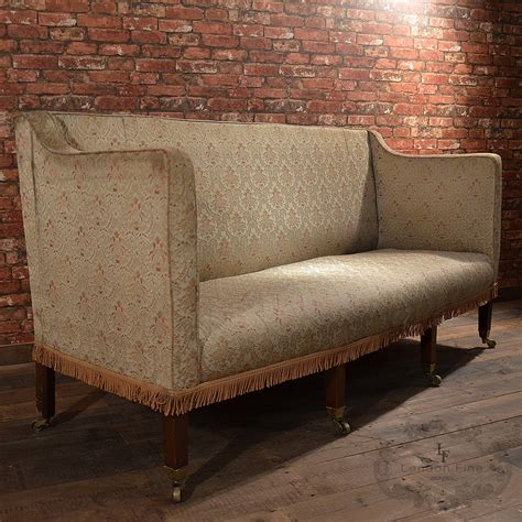 antique georgian high back sofa english c 1800 3 or 4