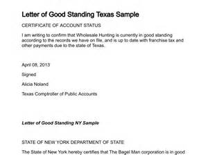 Letter Of Standing Template letter of standing