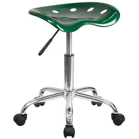 Tractor Seat Stools by Green Office Stool With Tractor Seat And Chrome Frame