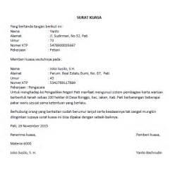 contoh surat kuasa cetak rekening wisata dan info sumbar