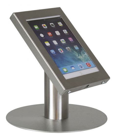 Tablet Desk Stand Securo 7 8 Inch Stainless Steel Lockable Tablet Stand For Desk