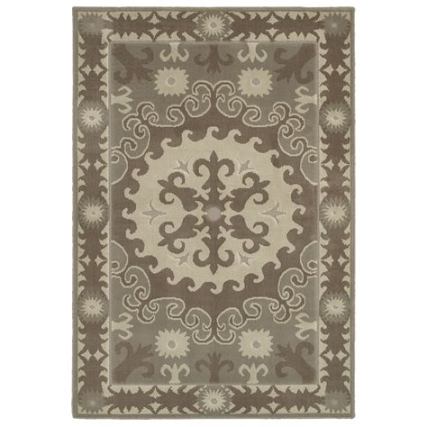 mohawk rugs lowes shop mohawk home valencia granite rectangular gray transitional woven area rug common 8 ft x