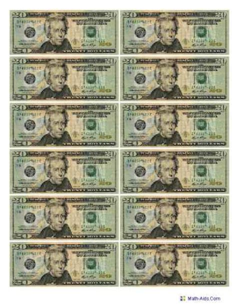 printable fake money pdf 9 best images of fake printable money sheets free