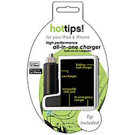 hottips charger hottips all in one charger for ipod and iphone by office