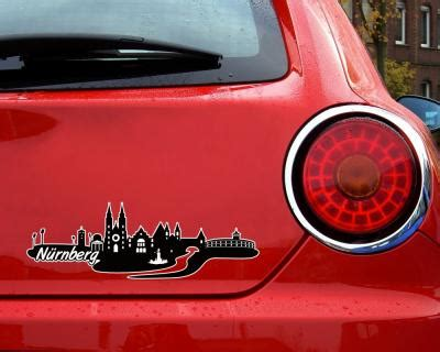 Autoaufkleber N Rnberg by N 252 Rnberg Skyline Aufkleber Sticker Autoaufkleber City