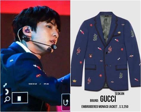 Harga Gucci V Bts harga fantastis kostum bts saat til di panggung amas