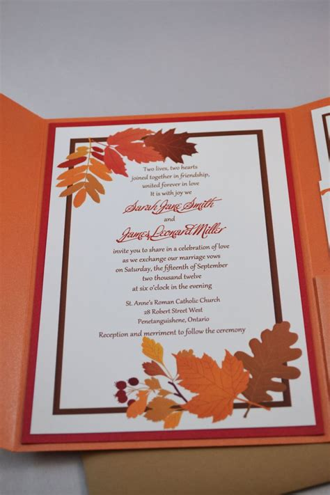 fall printable wedding invitation templates printable pdf fall wedding invitations for the diy bride
