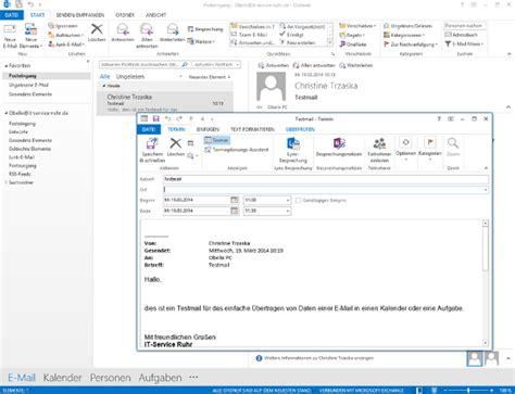 einladung outlook vorlage aus einer e mail in outlook einen termin oder eine aufgabe erstellen it service ruhr