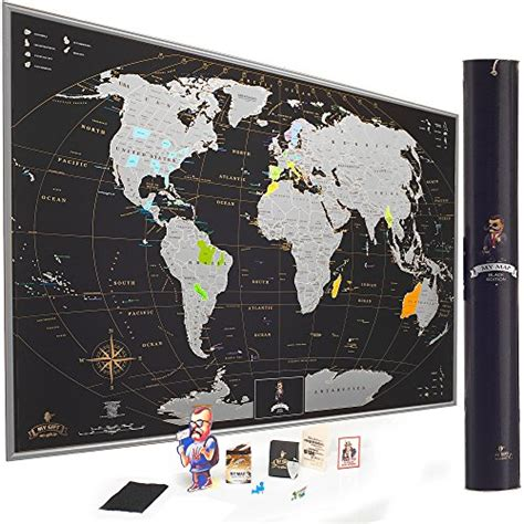 Scratch World Wall Map mymap scratch world map wall poster with us states