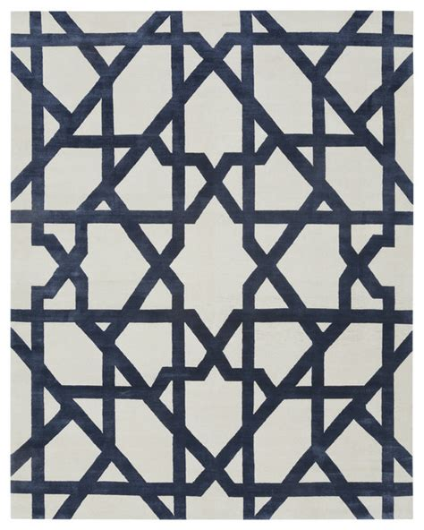 Geometric Design Rugs by Designs Blue And White Geometric Rug