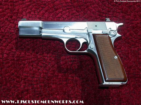 Hi Chrome chromed custom browning high power 9mm