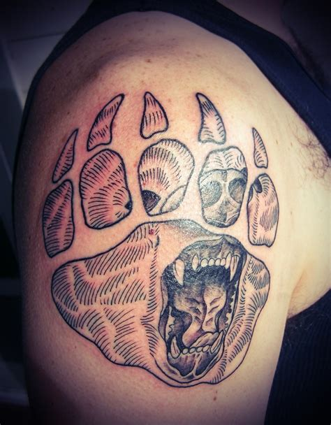 bear claw tattoo paw print tattoos designs ideas and meaning tattoos for you