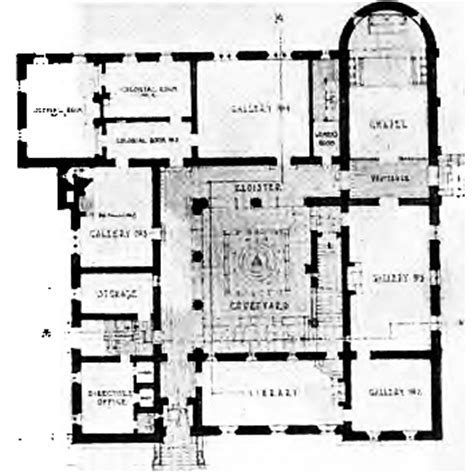 Floor Plan Art by File Cram And Ferguson Currier Art Gallery Proposal 1920