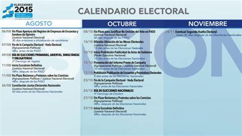Calendario Electoral 2015 Elecciones 2015 Las Paso Ser 225 N El 9 De Agosto Y Las