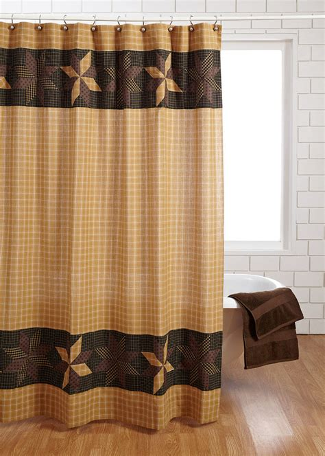 Rustic Country Shower Curtains Vhc Brands Amherst Cotton Shower Curtain Rustic Bathrooms And Primitives