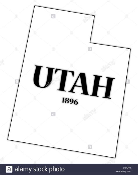 Utah State Mba Salary by A Utah State Outline With The Date Of Statehood Isolated